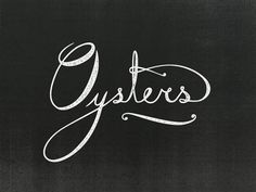 Lettering: Island Creek Oysters by Jennifer Lucey-Brzoza Typography Love, Typography Inspiration, Typography Letters, Typography Prints, Typography Poster, Graphic Design Typography, Graphic Design Inspiration, Logo Design, Creative Inspiration