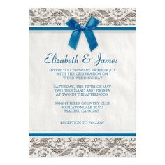 ReviewBlue Country Lace Wedding invitations Custom Announcementsonline after you search a lot for where to buy