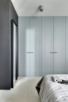 Ether Blue - this is when the love of one particular special color turns into a cozy living space.Thanks to this shade, in the apartment creates a feeling of soft, cool, enveloping lighting both in the daytime and in the evening. Wardrobe Door Designs, Wardrobe Design Bedroom, Wardrobe Doors, Built In Wardrobe, White Wardrobe, Target Home Decor, Cheap Home Decor, Cozy Living Spaces, Living Room