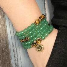 Prosperity Driven Green Aventurine And Tiger Eye Mala Bracelet/necklace - Malas Diy Jewelry, Women Jewelry, Tiger Eye Bracelet, Tigers Eye Gemstone, Green Aventurine, Stone Beads, Jewels, Gemstones, Bracelets