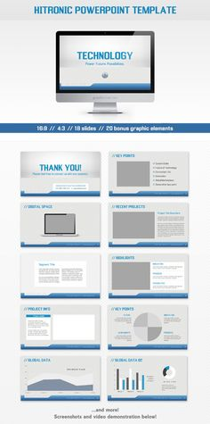 - Hitronic PPT -  Presentation template goes well with corporate, hi-tech, metallic, electric, electronic themes and other.    Check this and more at: http://graphicriver.net/item/hitronic-powerpoint-template/3041346?ref=stunvisuals