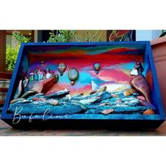Pebble Art, Opera, Aquarium, Drawing, Painting, Painted Rocks, Stone Art, Goldfish Bowl, Opera House
