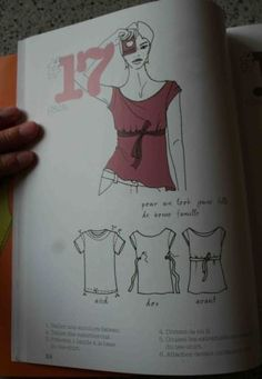 Les Fées Tisseuses : This is any easy remake of a T-shirt. Diy Couture, Couture Sewing, Shirt Refashion, T Shirt Diy, Diy Clothing, Sewing Clothes, T Shirt Redesign, Robe Diy, Diy Vetement
