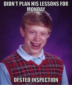 Don't be like Bad Luck Brian here - join us for the first #PlanningPanic, every Sunday at 8pm on Twitter  - http://twitter.com/tesresources