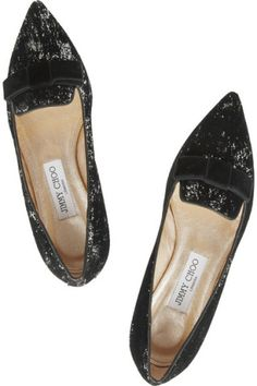 Jimmy Choo | Gala flocked sequined leather point-toe flats | NET-A-PORTER.COM, How would you style this? http://keep.com/jimmy-choo-gala-flocked-sequined-leather-point-toe-flats-net-a-portercom-by-dalabooh/k/1fEkavgBO5/