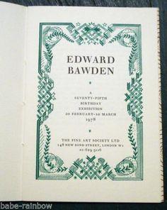 Edward Bawden 75th Birthday Exhibition 1978 Curwen Press Limited Edition | eBay