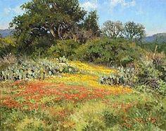A Castell Garden by Mark Haworth Oil ~ 16 x 20