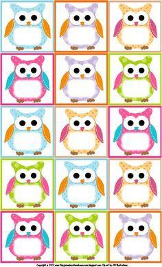 Free Owl Printables   Free Printable Owl Labels   Owl Theme Classroom