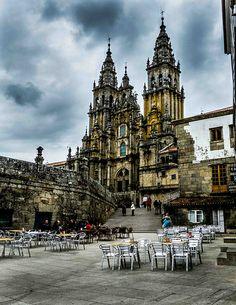 Coffee with a view Cathedral Santiago de Compostela Galicia