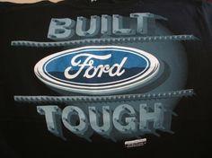 Ford Built Tough Black Medium Tee Shirt w/free shipping