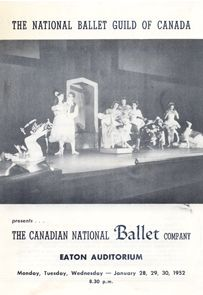 The Nutcracker cover from the premiere performance programme (January 28, 1952).