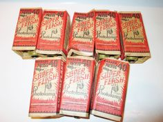Lot of 8 Flashbulbs Press 40 Wabash Photolamp Vintage Super Flash Bulbs