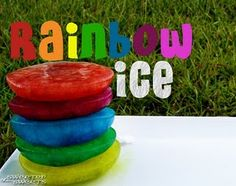 "Here's what you need to make Colored Ice Cubes:      Color Bath Dropz by Crayola  water  ice cube trays and/or old plastic bowls, bath toys, or anything you can fill up with water  3 large bowls  spoon or ladle  cookie sheet that fits in your freezer    Make sure that your cookie sheet will fit in your freezer before you start this project. You will make life much easier on yourself if you do it now. Also, your plastic ""molds"" should be cheap and/or old just in case they crack when you drop it on the g..."