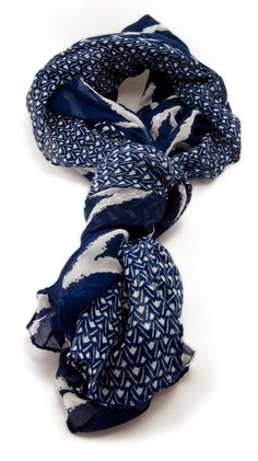 Beach Chevron Scarf, Navy by Alyssa Lee - cute!