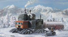 "postapocalypse snow vechicle by Filip ""5ofnovember"" Dudek (aka desfil)."