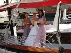 Dubrovnik wedding moment before leaving to the Lopud island,