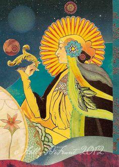 """The Empress"" #Tarot #TheEmpress The Empress Sibylline Tarot Art Giclée Print 5 by RavenandRoseArts, $16.00"