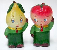 Too cute- Pear & Apple S&P set