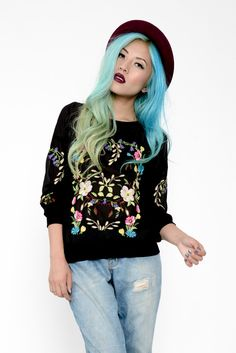 i want this in a merdium cos that will look cute http://www.mintyjungle.com/collections/sweaters/products/floral-embroidered-sheer-crew-neck-sweater?variant=915957317