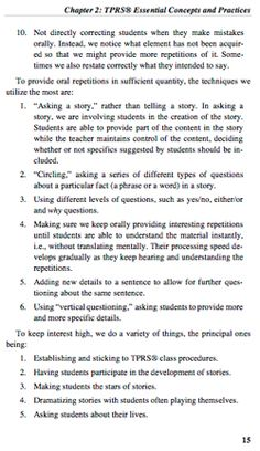 Fluency Through TPR Storytelling: Achieving Real Language Acquisition in School - page 15 Language Acquisition, Comprehension, Textbook, Vocabulary, Storytelling, Wonderland, Teacher, Author, Student