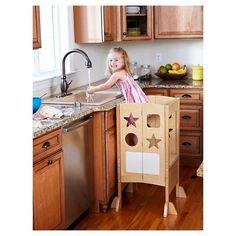 Kids Kitchen Helper - Natural - Guidecraft, Buff Beige