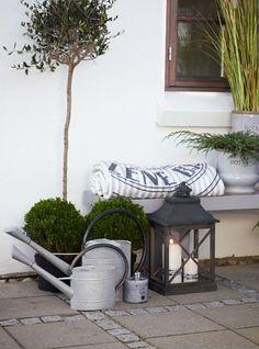 Homes and Roses: Lene Bjerre - Spring 2013 Outside Living, Outdoor Living, Garden Lanterns, Outdoor Spaces, Outdoor Decor, Terrace Garden, Porches, Garden Styles, Garden Furniture