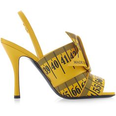 Moschino Measuring Tape Sandal ($850) ❤ liked on Polyvore featuring shoes, sandals, moschino shoes, moschino sandals, open toe slingback shoes, oversized shoes and open toe sandals