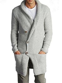 Mens Hand Knit Wool Long Coat. Any Size and Any Color. Made To Order Model. ============================================= - MANY YEARS of KNITTING EXPERIENCE - HUNDREDS of SATISFIED CUSTOMERS. - PREMIUM QUALITY YARNS - ORDER WILL BE DONE IN 3-4 WEEKS. - ANY SIZE and ANY C...