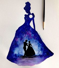 Image about art in girls in disney 👸 🏻 by lauren Art Disney, Disney Kunst, Disney Magic, Disney Movies, Disney Characters, Cinderella Art, Cinderella Silhouette, Cinderella Tattoos, Disney E Dreamworks