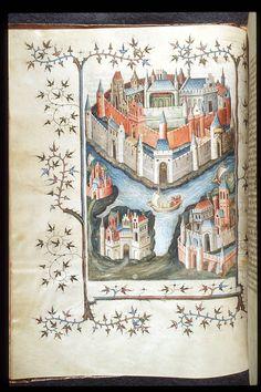 Troy - Histoire ancienne jusqu'à César OriginFrance, Central (Paris) Date1st quarter of the 15th century LanguageFrench ScriptGothic cursive ArtistsNetherlandish artist working in Paris. See also Sloane 2433.