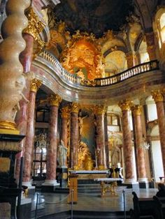 The glorious Court Chapel in the Wurzburg Residenz, Wurzburg Germany.