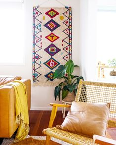Add an eclectic feature to your living spaces with our woven wall hangings! Measuring x these large textural hangings will most definitely add personality and warmth to your home. Fabric Wall Decor, Wall Decor Design, Woven Wall Hanging, Affordable Art, Wall Hangings, Living Spaces, Personality, Weaving, Kids Rugs