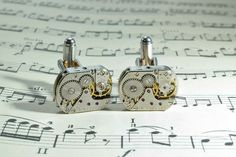 Watch Cufflinks, Steampunk Watch, Groomsman Gifts, Men's Jewelry, Vintage Watches, Groomsmen, Wedding Gifts, Birthday Gifts, Silver