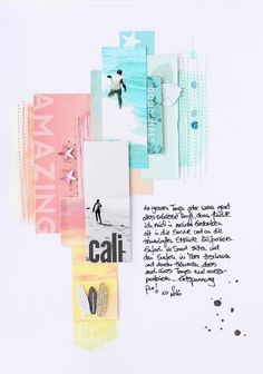"#papercrafting #scrapbooking #layout - Mai Kit 2016 Layout ""California"" by Steffi Ried / Scrapbook Werkstatt"