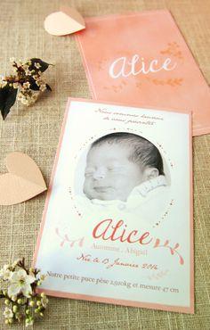 faire-part, card, naissance, birth, rose, pink, bébé, baby, flowers, nature, watercolor, aquarelle, girl, fille, studio-lou.fr/