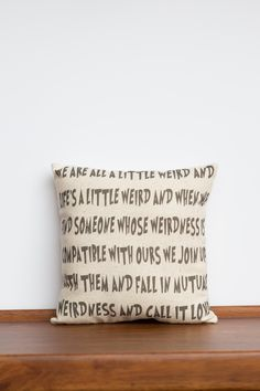 Dr. Seuss Mutual Weirdness Decorative Pillow | Funny Anniversary Gift | Humorous Wedding Gift | Uncommon Gift for Boyfriend | Valentines Day Gift Idea