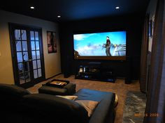 LandShark's small yet cozy home theater......