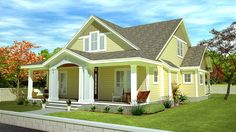 Plan 32598WP: L-Shaped Cape Cod Home Plan   Pinterest   Dining room ...