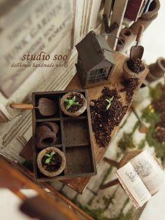 Miniatures:  Junk garden by studio soo, via Flickr