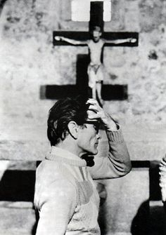 Pier Paolo Pasolini Reminds me of my Catholic upbringing and education. 3 Canvas Art, Pier Paolo Pasolini, Werner Herzog, Losing My Religion, Film Music Books, Film Director, Black And White Photography, Filmmaking, Movie Stars