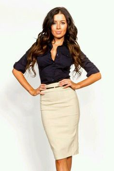 Navy blue with a light color skirt. Prettiful
