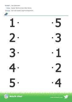 Preschool Number Worksheets, English Worksheets For Kids, Kindergarten Math Activities, Preschool Writing, Numbers Preschool, Preschool Learning Activities, All About Me Preschool, Math For Kids, Toddler Learning Activities