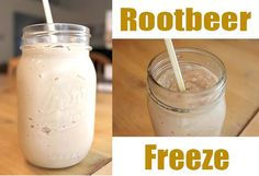 Rootbeer Freeze made with Homemade Sweetened Condensed Milk! YUM!