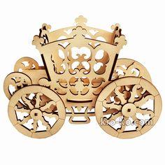 Купить деревянную карету принцессы в интернет-магазине Kroko&woodi