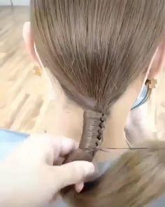 Hairdo For Long Hair, Bun Hairstyles For Long Hair, Diy Hairstyles, Front Hair Styles, Medium Hair Styles, Hair Style Vedio, Hair Tutorials For Medium Hair, Blanket Stitch, Hair Videos