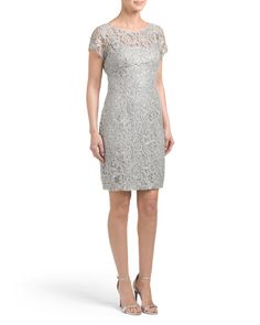 Lace+And+Sequin+Cocktail+Dress