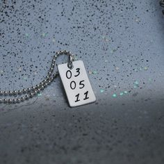 Sobriety date handstamped necklace silver by Studio463 on Etsy, . #hawaiirehab www.hawaiiislandrecovery.com