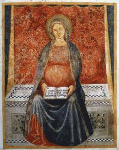 Maria del Magnificat, Battista da Vicenza, fresque, XVème siècle, Santuario della Madonna della Misericordia di Monte Berico, Penitenzieria, Vicenza
