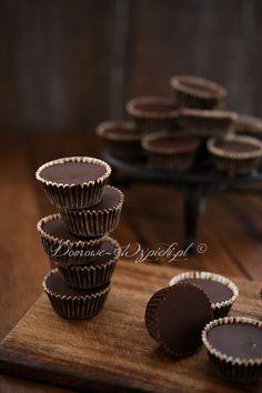 Czekoladki z masłem orzechowym Baby Food Recipes, Peanut Butter, Cupcakes, Homemade, Snacks, Chocolate, Breakfast, Baby Foods, Smoothie