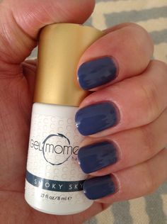 Gel moment manicure using the color Smoky Sky Gel Polish Manicure, Manicure Colors, Gel Polish Colors, Nail Colors, Colours, Hair And Nails, My Nails, Gel Nail Designs, Creative Nails
